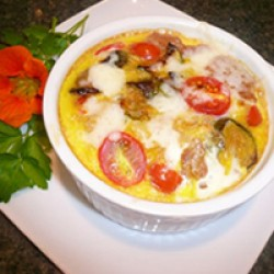 Roasted Vegetable and Tomato Souffle